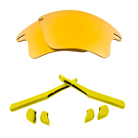Lenses Kit Compatible with OAKLEY FAST JACKET XL Polarized Gold & (Fast Jacket Xl Lenses)