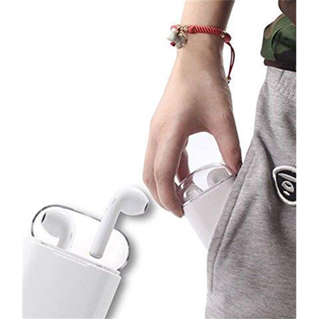 Mini wireless Headsets. Wireless Music Earphones. Stereo Sports Headphones with Charging Box for iPhone and Android Smart Phones - image 10 of 14