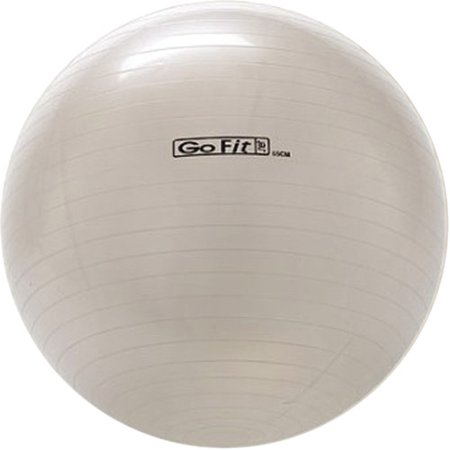 GoFit 65cm 1000lb Capacity Exercise Ball with Pump & Training Poster- White