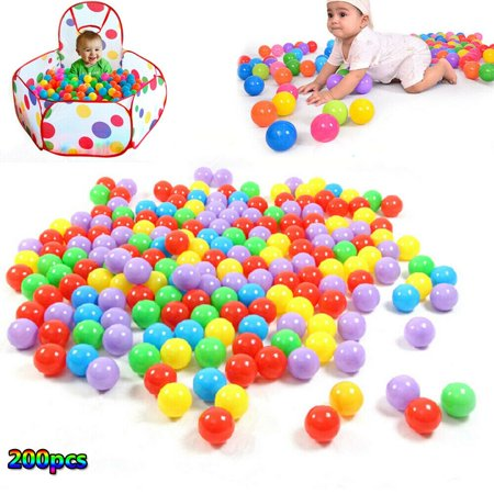 200pcs 5.5cm Swim Pool Ocean Ball Fun Soft Plastic Pit Toys Game Baby Kids Toys Colorful ()