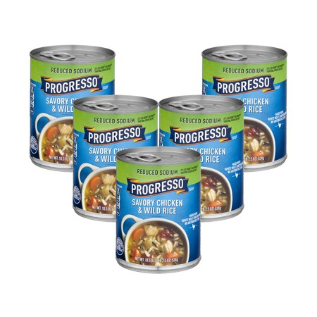 (5 Pack) Progresso Soup Reduced Sodium Chicken and Wild Rice Soup 18.5 oz (Best Chicken And Wild Rice Soup)