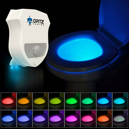 16-Color Motion Activated Toilet Light Night Toilet Light LED Light Changing Toilet Bowl Nightlight for Bathroom Perfect Decorating Water Toilet Light