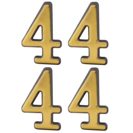 Hotel Room Door Plastic 4 Shaped Plate Number Wall Stick Label Sign 4pcs