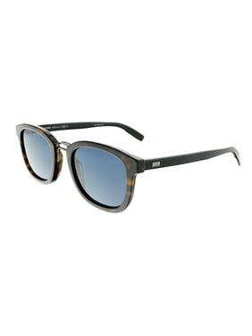 DIOR HOMME BLACKTIE230S Dark Havana/Black Square Sunglasses