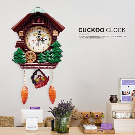 Cuckoo Clock Vintage Wood Cartoon Forest House Swing Wall Alarm Art Handcraft Decor Valentines Gift Horse Cuckoo Clock