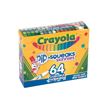 Fun Express - Crayola Pipsqueaks Skinnies Markers - Basic Supplies - Drawing - Markers - 64 -