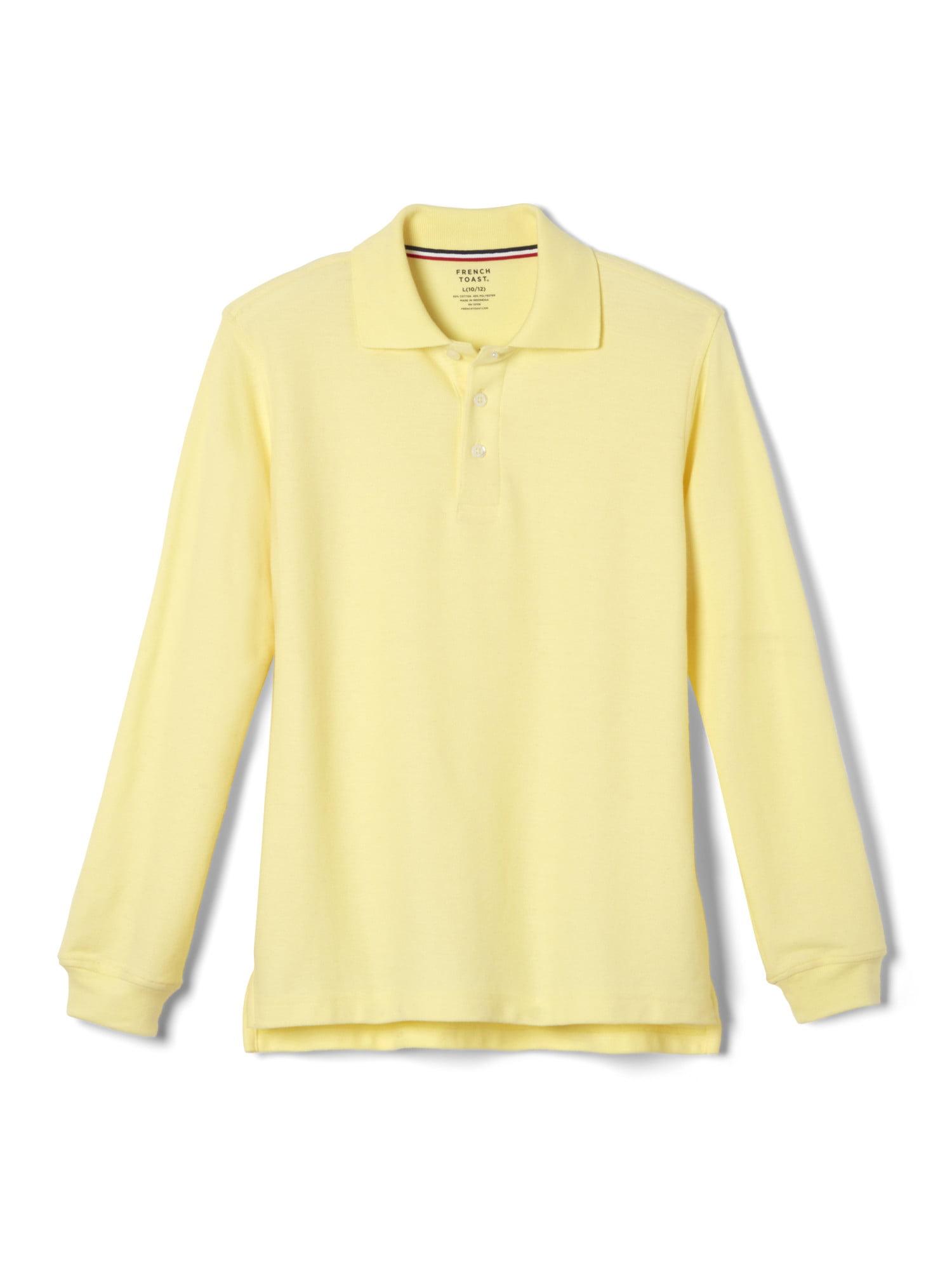 French Toast  Boys Long Sleeve Pique Polo Shirt Light Blue 8,Big Boys