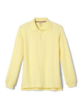 French Toast Boys 4-20 School Uniform Long Sleeve Pique Polo Shirt