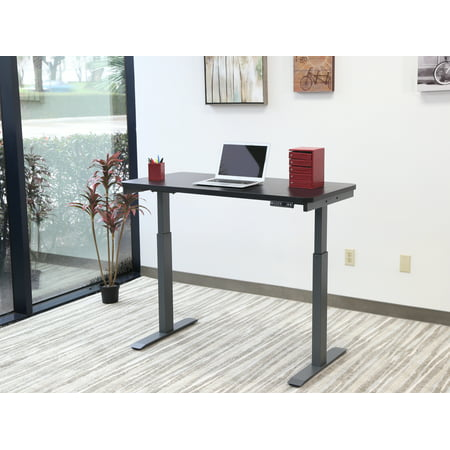 "Motionwise Black Electric Height Adjustable Standing Desk, 24""x48"