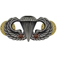 Army Basic Combat Parachute 2nd Award (Oxidized Finish)