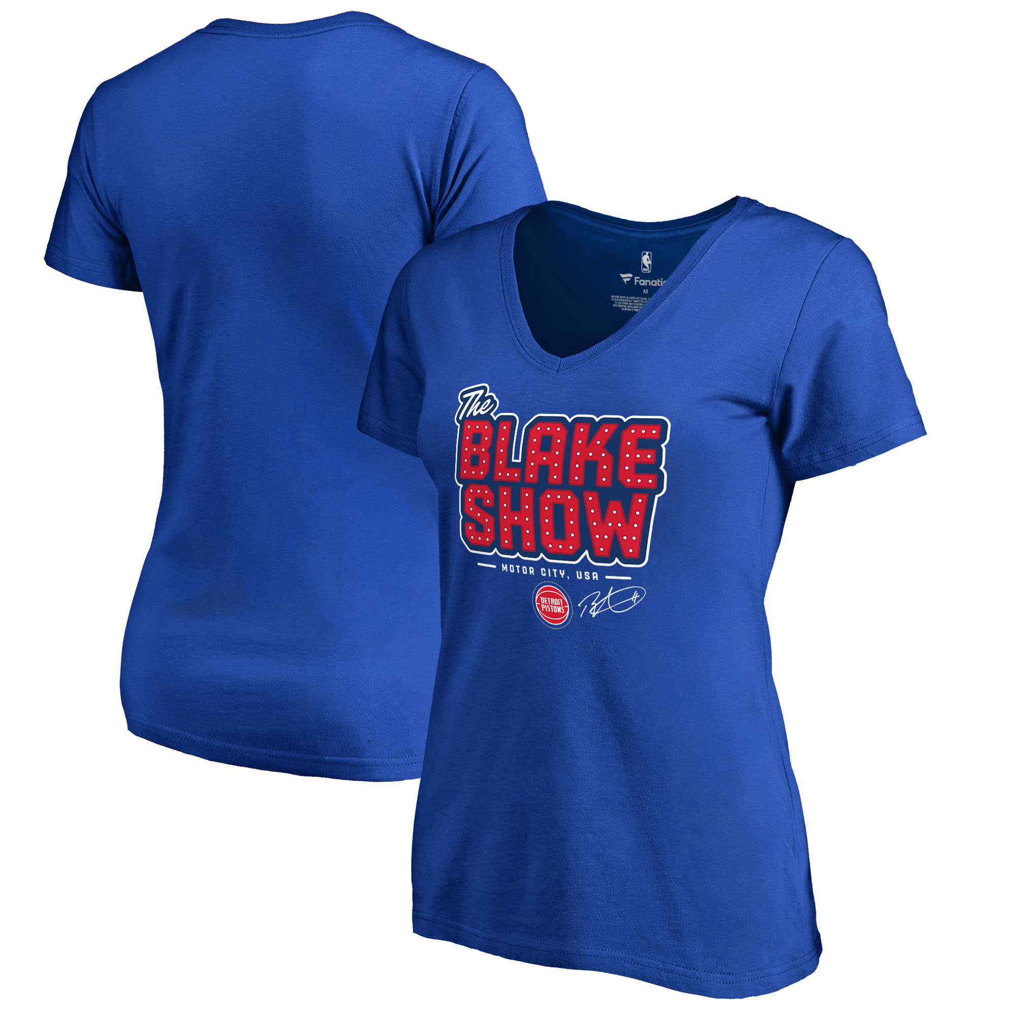 Blake Griffin Detroit Pistons Fanatics Branded Women's Hometown Collection The Blake Show Slim Fit V-Neck T-Shirt - Royal