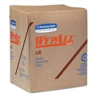 Wypall* L20 Wipers, 2-Ply, Brown, Paper, 144/Carton