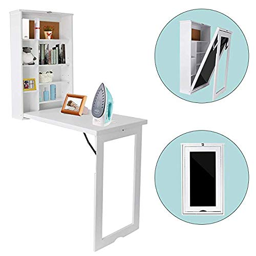 Charmant Wall Mounted Table, Fold Out Convertible Desk, Multi Functional Wall  Mounted Laptop Desk, Writing Desk Home Office Desk With Large Storage Area