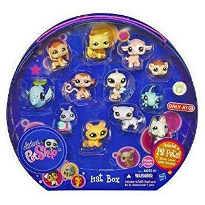 littlest pet shop exclusive playset hat box includes 12 pets (Lps Hat Box)