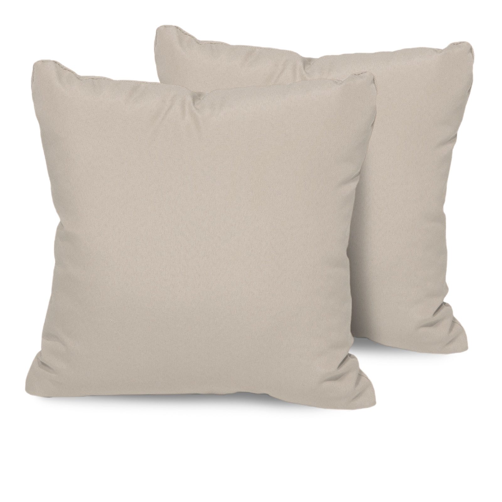 Beige Outdoor Throw Pillows Square Set of 2 by TK Classics