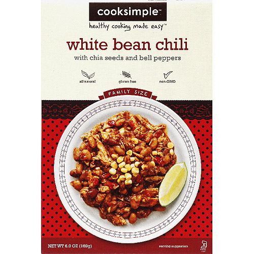 Cooksimple White Bean Chili Mix, 6 oz, (Pack of 6)