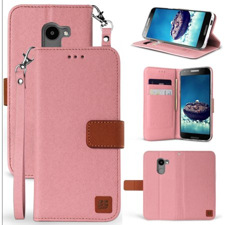 official photos 4318f 28cdc Alcatel A30 Fierce/Plus/Revvl Case, Infolio Wallet Card Slot Cover, View  Stand [Magnetic Closure, Wrist Strap] for A30 Fierce (MetroPCS, 5049Z), ...