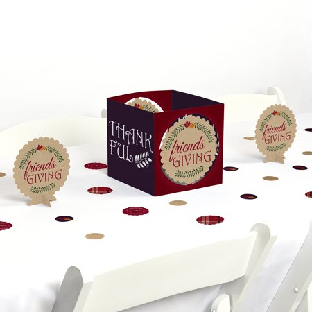 Friends Thanksgiving Feast - Friendsgiving Party Centerpiece & Table Decoration Kit - Turkey Centerpieces Thanksgiving