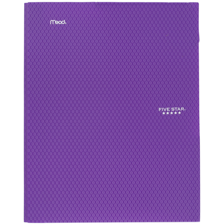 Five Star Stay-Put Pocket & Prong Folder, Royal Purple (34187)
