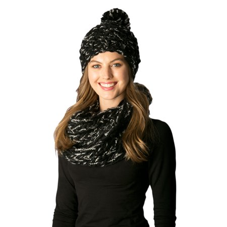 Womens Thick Yarn Knitted Fall and Winter Infinity Loop