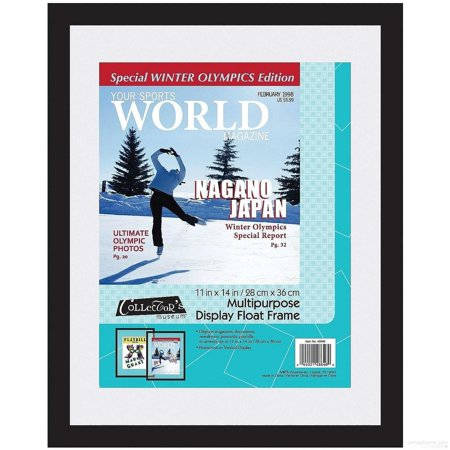 Ebony-black Multi-Purpose Float 11x14 frame for your Magazines   Documents   Newsletters and more