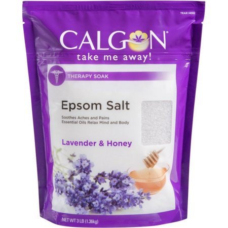 (2 pack) Calgon Soothing and Relaxing Epsom Salts Soak,  Lavender and Honey, 3 lb