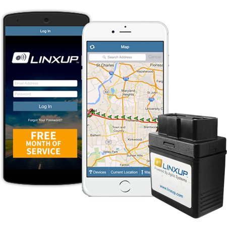 Linxup GPS Vehicle Tracker Locator, Car Tracker for Business Connected Car with Free Month of GPS Service, OBD Version, No Contracts (Auto Warranty Service Contracts)