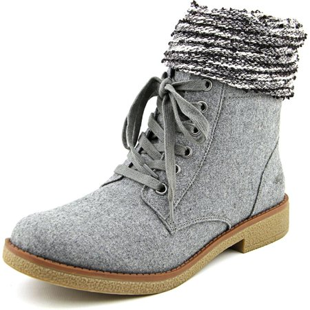 Rocket Dog Casual Boot - Rocket Dog Temecula Women  Round Toe Canvas Gray Mid Calf Boot