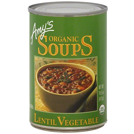Amy's Organic Lentil Vegetable Soup, 14.5 oz (Pack of