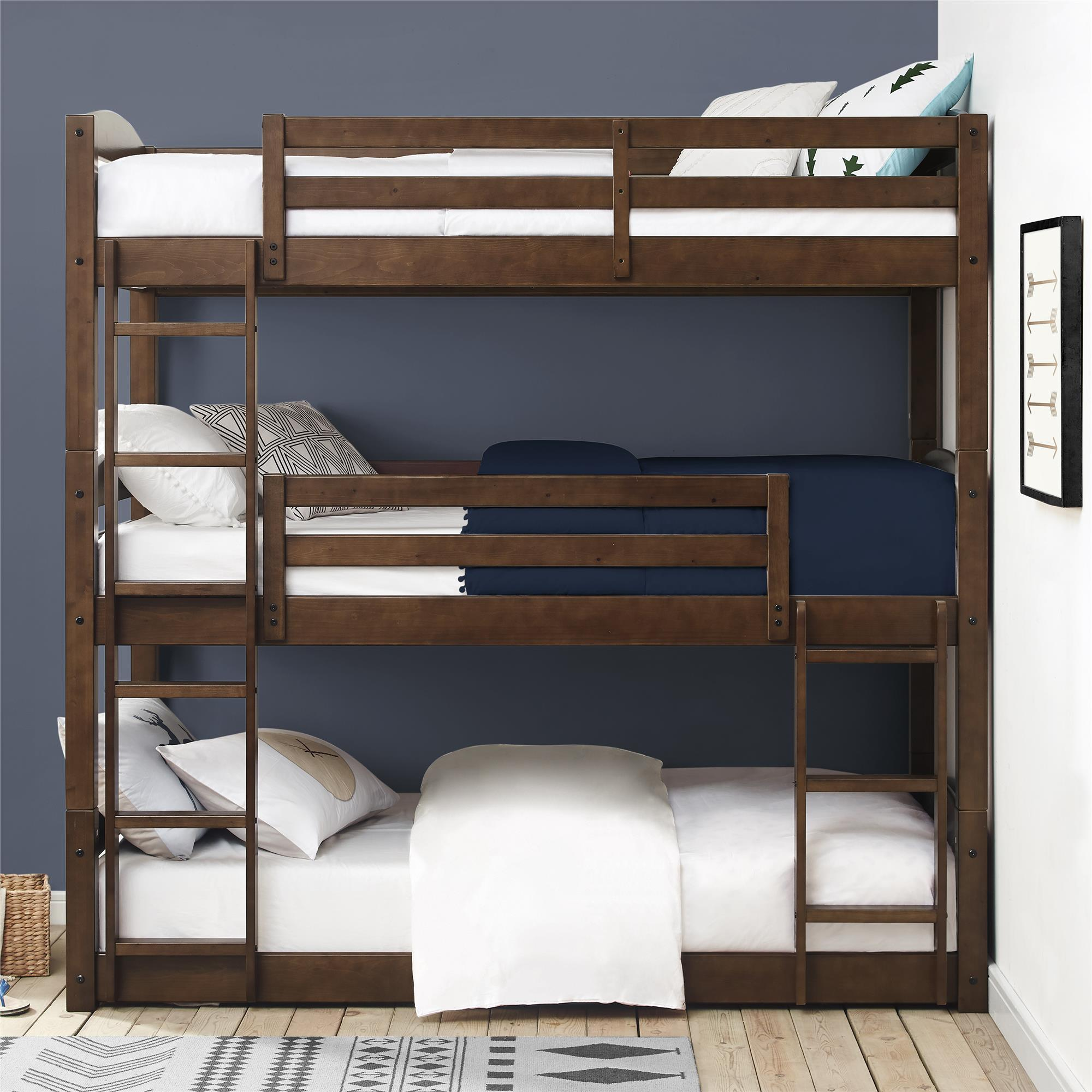 Better Homes And Gardens Tristan Triple Floor Bunk Bed, Multiple Finishes    Walmart.com
