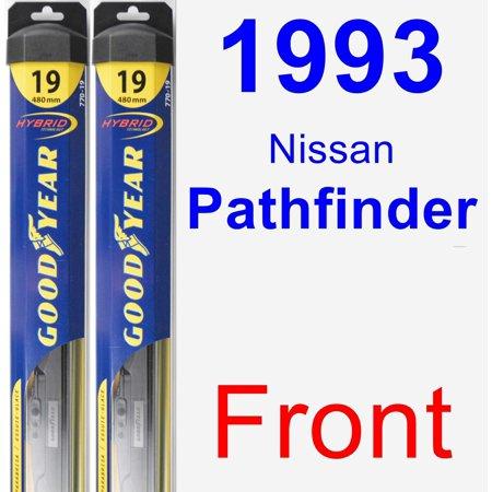 1993 Nissan Pathfinder Wiper Blade Set/Kit (Front) (2 Blades) - Hybrid