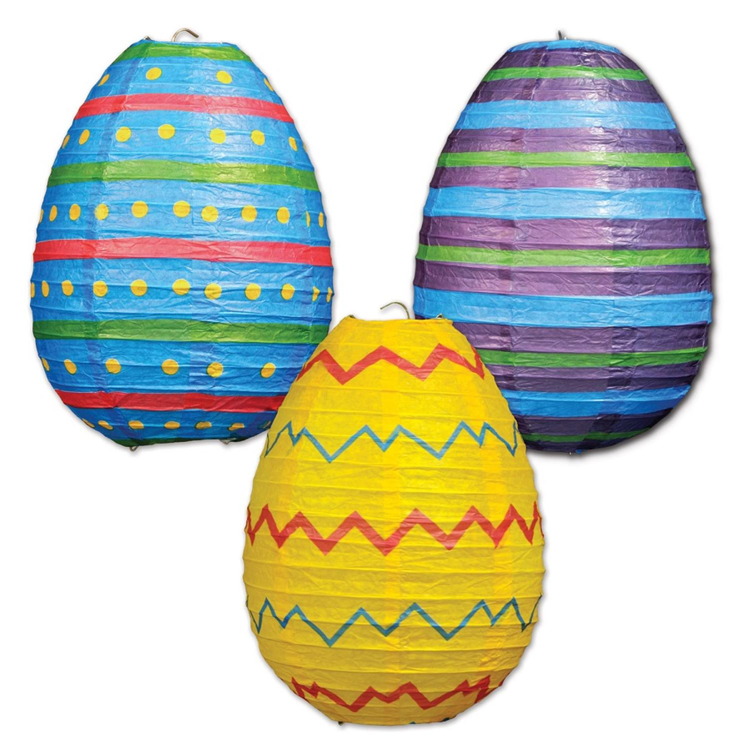 """Pack of 18 Easter Egg Hanging Paper Lantern Party Decorations 10"""""""