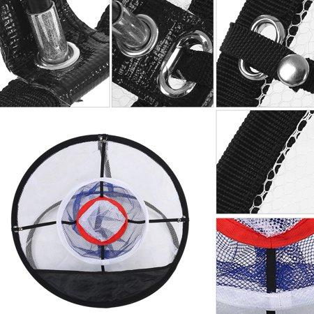 Garosa Golf Training Accessory,Golf Ball Net,Black Nylon Mesh Folding Golf Chipping Net Balls Collector Bracket Bag Training Accessory - image 4 of 7