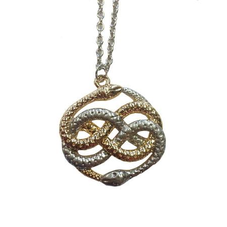 AURYN Necklace Neverending Story Atreyu Infinity Snake Movie Gold Silver Pendant Cobra Snake Pendant Jewelry
