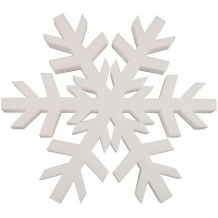 438691 Smooth Foam Snowflake 12 in. 1-Pkg-White](Foam Snowflakes)