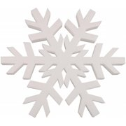 Smooth White Foam Snowflake, 12""