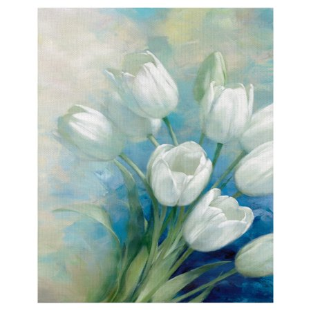Tulip Blossoms by D. Rogier Wrapped Canvas Painting Art Print - One Tulip Canvas