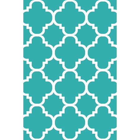 PREMIUM 3D Hand Carved Modern 5x8 5x7 Rug Contemporary 4518 Turquoise Blue ()