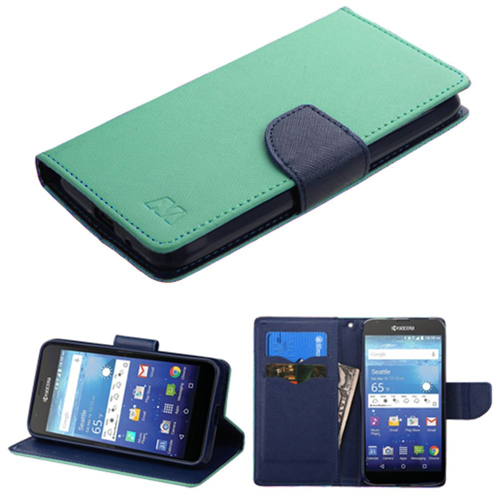 Kyocera Hydro Wave Phone Case, Kyocera Hydro Wave Case, by Insten Book-Style Leather Cover Case with card slot For Kyocera Hydro Wave case cover - image 3 of 3