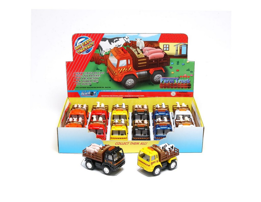 """Tough-1 Western Toy Die Cast 12 Pack Truck 3"""" Multi Color 87-98902 by Tough-1"""