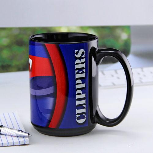 Black LA Clippers 15oz. Carbon Fiber Ceramic Coffee Mug