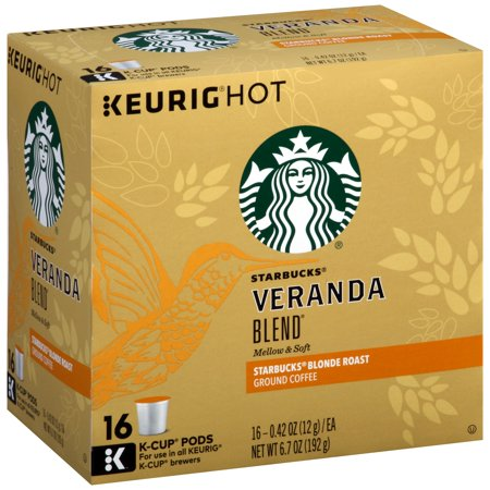 Starbucks ® Veranda Blend ® Blonde Roast Ground Coffee K-Cup ® Pods 16 ct Box