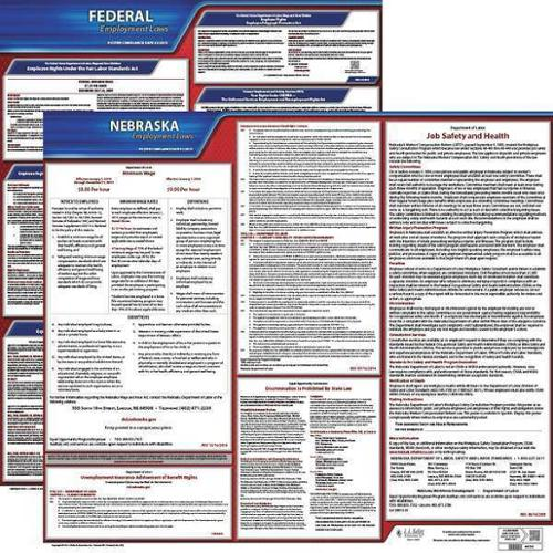 JJ KELLER 100-NE-K Labor Law Poster Kit, NE, English, 27 In. W