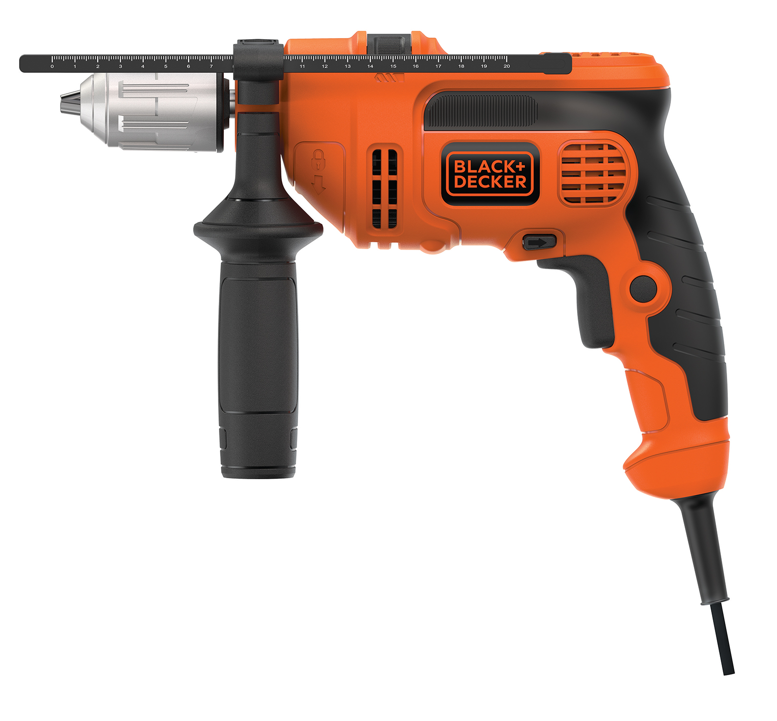 BLACK+DECKER 6.0 Amp 1/2-Inch Corded Vsr Hammer Drill, DR670