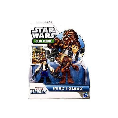 Star Wars 2011 Playskool Jedi Force Mini Figure 2Pack Chewbacca Han Solo by Hasbro by Hasbro Inc