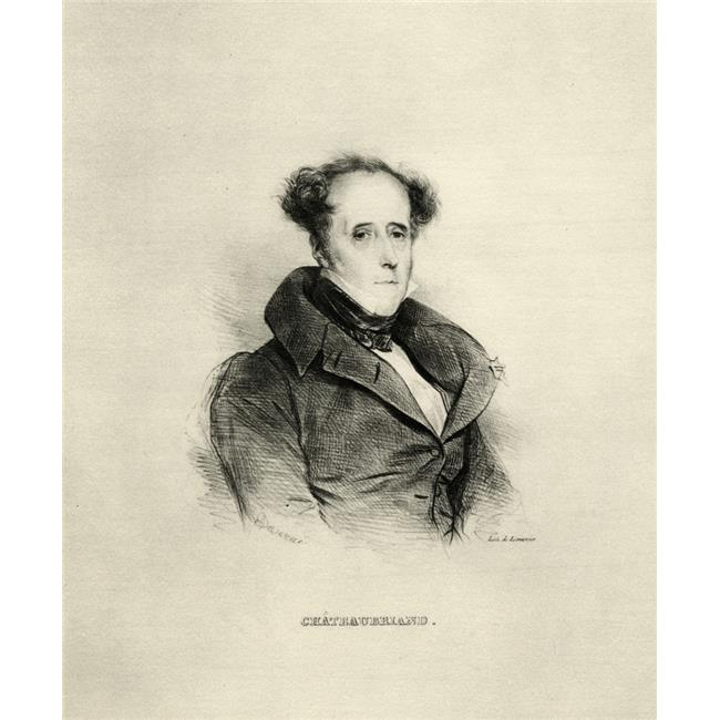 Posterazzi DPI1857553LARGE Fran ois Rene De Chateaubriand 1768-1848. French Politician & Writer. Lithograph by A. Devria Poster Print, Large - 26 x 32 - image 1 de 1