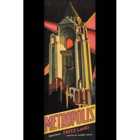 Futuristic tall Skyscraper on a poster for Metropolis a 1927 German expressionist epic silent science fiction drama film directed by Fritz Lang Poster Print by Unknown (German Expressionist Prints)