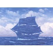 """RENE MAGRITTE Le Seducteur 19.75"""" x 27.5"""" Poster 2009 Surrealism Blue"""