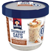 Quaker Overnight Oats Toasted Coconut & Almond Crunch, 2.43 OZ