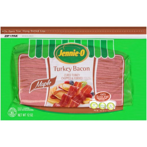 Jennie-O Maple Turkey Bacon, 12 oz